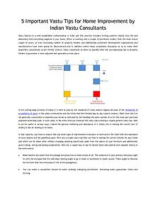 5 Important Vastu Tips for Home Improvement by Indian Vastu Consultan
