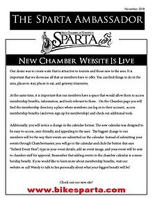 Sparta Area Chamber of Commerce Newsletter