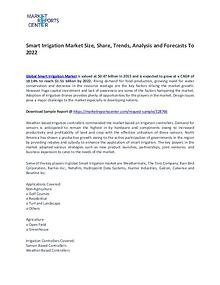 Smart Irrigation Market Trends, Price, Demand and Analysis To 2021