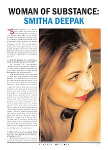 Smitha Deepak's coverage in Opinion Express
