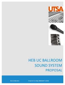 HUC BALLROOM SOUND SYSTEM PROPOSAL VOL. 1