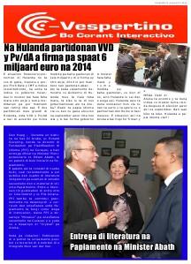 Edicion 27 di Augustus 2013