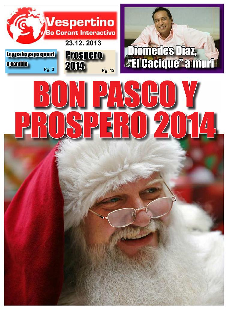 E-Vespertino Edicion 23 di December 2013