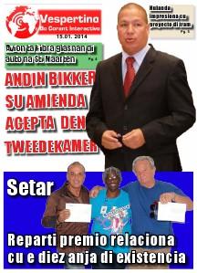 E-Vespertino Edicion 15 dii Januari 2014