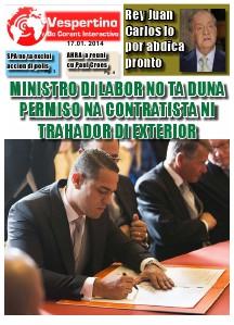 E-Vespertino Edicion 17 di Januari 2014