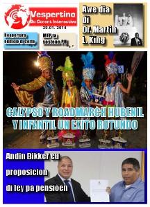 E-Vespertino Edicion 20 di Januari 2014