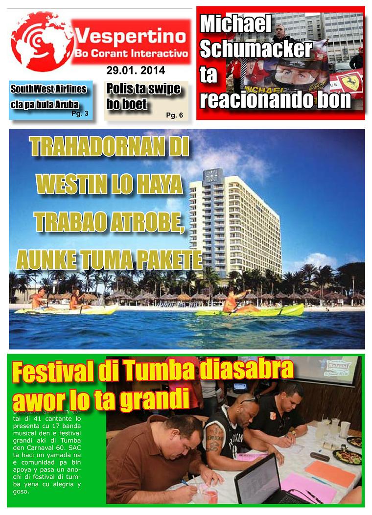 E-Vespertino Edicion 29 di Januari 2014