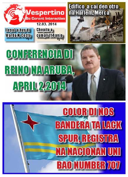 E-Vespertino Edicion 12 di Maart 2014