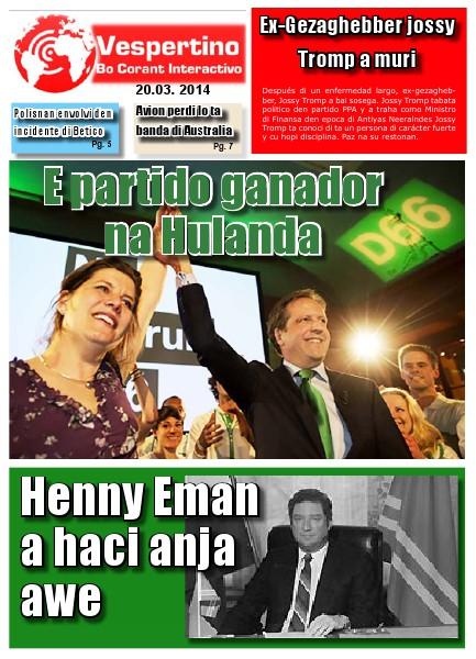 Edicion 20 di Maart 2014