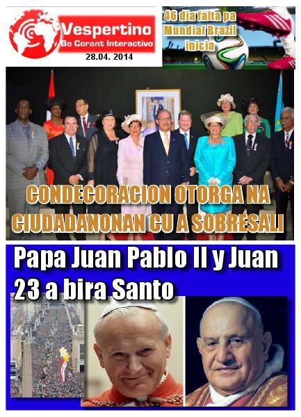 E-Vespertino Edicion 28 di April 2014