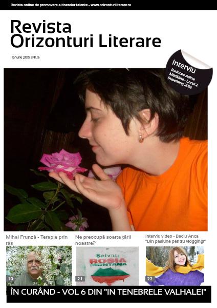 Revista Orizonturi Literare ianuarie 2015