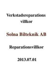 Reparations villkor 2013