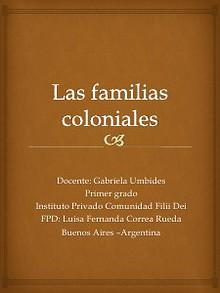 Las familias coloniales