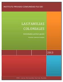 Las familias coloniales-actividades