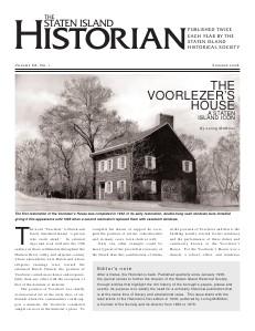 The Staten Island Historian Volume 1