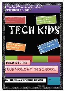 Tech kids Technology used in school