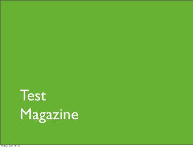 Magazine Test Magazine
