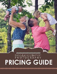 Brooklyn McDermott Photography Pricing August 2013/2014