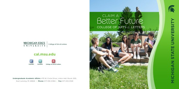 College of Arts & Letters Viewbook (September 2013)