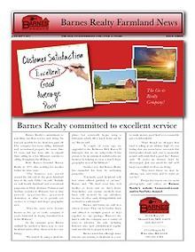Barnes Realty Newsletters