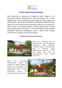 Projekty domow parterowych