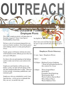 The Orchards Employee Newsletter