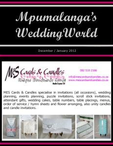 Mpumalanga's Wedding World - Dec-Jan2012