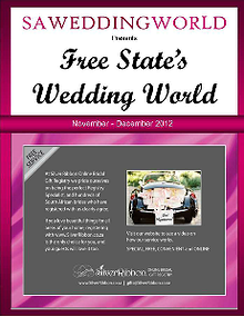 SA Wedding World_Sept_Oct_2012 Free State\'s Wedding World - Nov-Dec2012