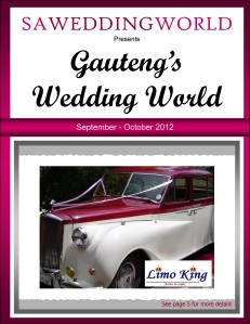 SA Wedding World_Sept_Oct_2012 Gauteng\'s Wedding World - Sept/Oct 2012