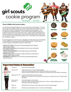 2012 Troop Cookie Manager Guide 2012 Parent Cookie Guide