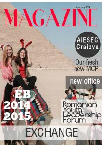 AIESEC Craiova Magazine Jan. Jan 2014