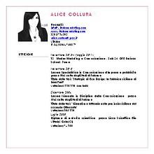 ALICE COLLURA CURRICULUM VITAE