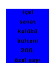 19.01.2014 içel sanat kulübü dergi