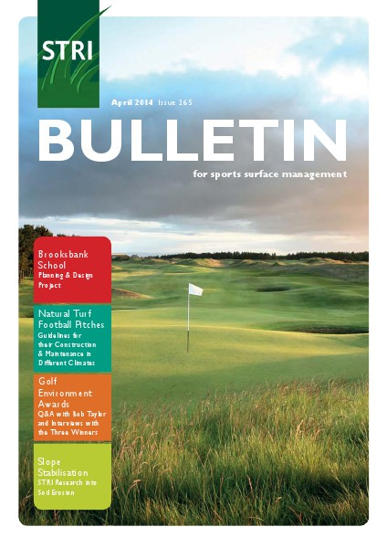 STRI (Sports Turf Research Institute) Bulletin April 2014