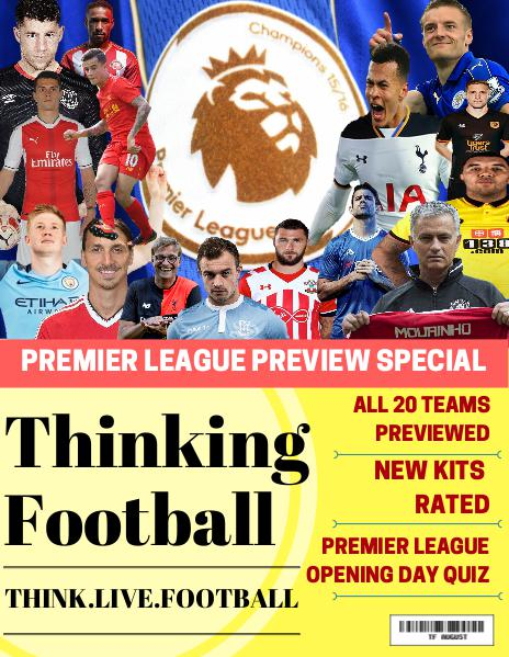 Thinking Football August 2016