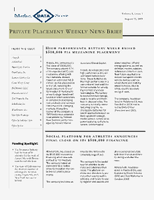 Private Funding News - MDS