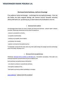 Darmowe konto bankowe 2014