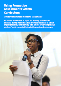 Assessment Guide Using Formative Assessments within Curriculum