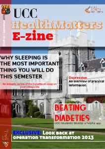 UCC Health Matters E-zine Sept 2013