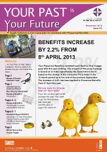Your Past Is Your Future BUS FUND November 2013 Issue 15