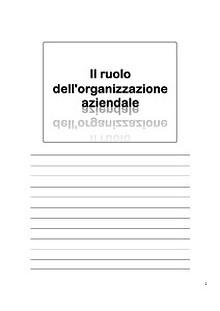Lezioni di Organizzazione del Lavoro