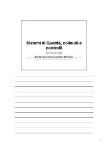 Lezioni di Qualità in Azienda -  Qualità, Definizioni ed Accenni