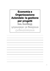 - Economia Aziendale e Organizzazione del Lavoro