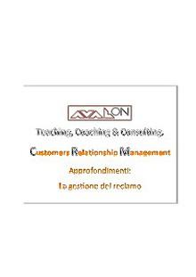 CRM - Approfondimenti - La gestione del Reclamo