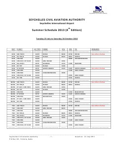 SCAA Summer Schedule - 4th Edition (2013-4)
