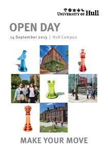 University of Hull Open Day Programme (Hull campus, 14 September 2013)