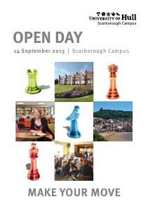 University of Hull Open Day Programme (Scarborough campus, 14 September 2013)