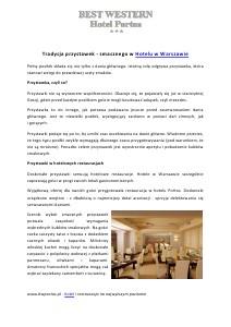 Hotel w Warszawie 2013-09-19