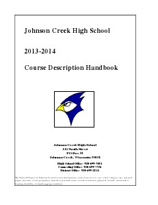 Course Description Handbook 2013/14