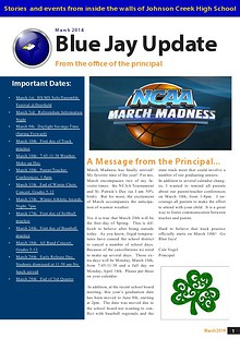 Johnson Creek High/Middle School Newsletter